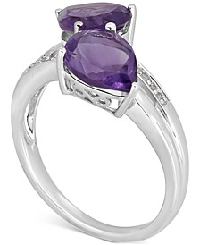 Amethyst (3 ct. t.w.) & Diamond Accent Ring in 14k White Gold