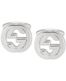 Gucci Men's Interlocking Logo Cuff Link in Sterling Silver