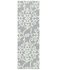 "Surya Cosmopolitan COS-8828 Medium Gray 2'6"" x 8' Runner Area Rug"