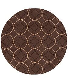 CLOSEOUT! Surya  Cosmopolitan COS-8868 Dark Brown 8' Round Area Rug