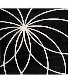 "Surya Forum FM-7072 Black 9'9"" Square Area Rug"