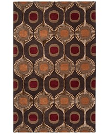 Forum FM-7170 Dark Brown 6' x 9' Area Rug