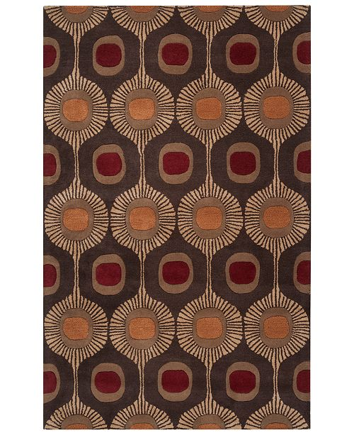 Surya Forum FM-7170 Dark Brown 6' x 9' Area Rug