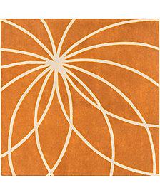 Surya Forum FM-7175 Burnt Orange 8' Square Area Rug