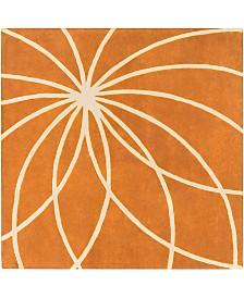 Surya Forum FM-7175 Burnt Orange 4' Square Area Rug