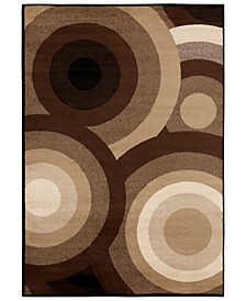 "Paramount PAR-1051 Dark Brown 8'10"" x 12'9"" Area Rug"
