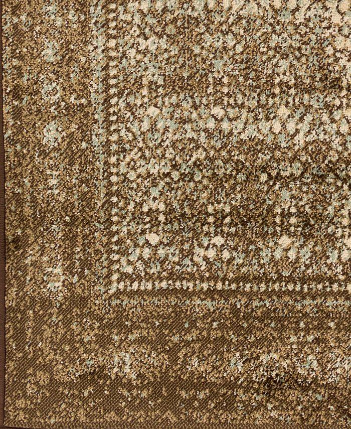 """Abbie & Allie Rugs - Paramount PAR-1076 Dark Brown 18"""" Square Swatch"""