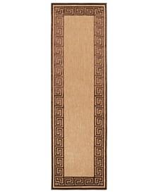 """Surya Portera PRT-1030 Dark Brown 2'6"""" x 7'10"""" Runner Area Rug, Indoor/Outdoor"""