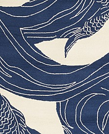 "Rain RAI-1238 Dark Blue 18"" Square Swatch"