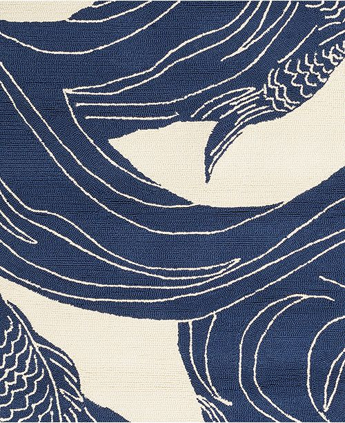 "Surya Rain RAI-1238 Dark Blue 18"" Square Swatch"