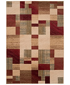 "Riley RLY-5006 Dark Red 7'10"" x 10'10"" Area Rug"