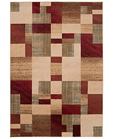 "Surya Riley RLY-5006 Dark Red 7'10"" x 10'10"" Area Rug"