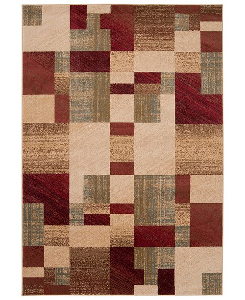 "Surya Riley RLY-5006 Dark Red 2' x 3'3"" Area Rug"
