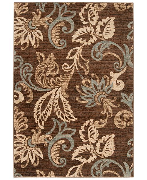 "Surya Riley RLY-5022 Dark Brown 5'3"" x 7'6"" Area Rug"
