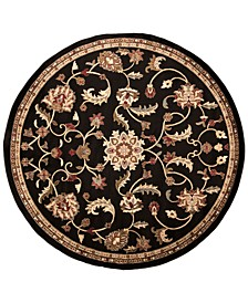 Riley RLY-5025 Black 8' Round Area Rug