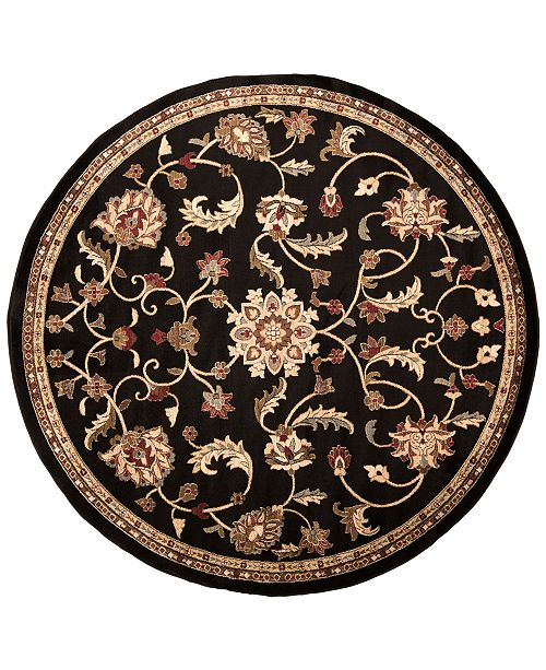 Surya Riley RLY-5025 Black 8' Round Area Rug