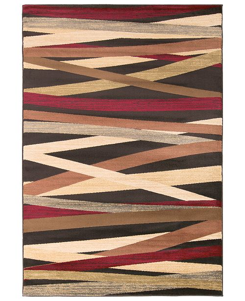 "Surya Riley RLY-5057 Burgundy 4' x 5'5"" Area Rug"
