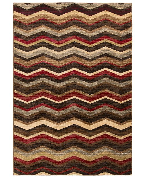 "Surya CLOSEOUT! Riley RLY-5064 Burgundy 4' x 5'5"" Area Rug"