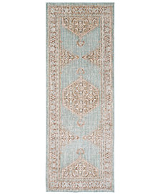 "Surya Germili GER-2310 Sea Foam 2'11"" x 7'10"" Runner Area Rug"