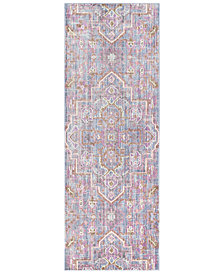 "Surya Germili GER-2317 Bright Purple 2'11"" x 7'10"" Runner Area Rug"