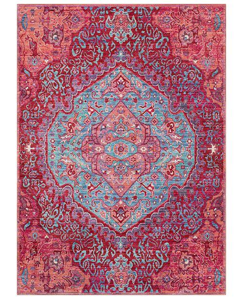 "Surya CLOSEOUT!  Germili GER-2325 Bright Pink 3'11"" x 5'7"" Area Rug"