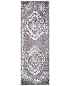 "Surya Tibetan TBT-2301 Medium Gray 2'7"" x 7'6"" Runner Area Rug"