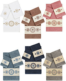 Linum Home Isabelle Embroidered Turkish Cotton Bath Towels