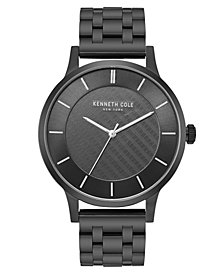 Kenneth Cole New York Men's Black Bracelet Watch with Black Classic Dial, 44MM