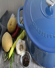 Chasseur French Enameled Cast Iron 6.25 Qt. Round Dutch Oven