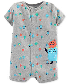 Carter's Baby Boys Monsters-Print Cotton Romper