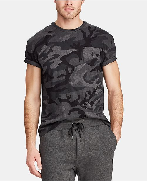 37b84547 Polo Ralph Lauren Men's Classic Fit Camouflage T-Shirt & Reviews - T ...