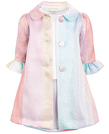 Blueberi Boulevard Baby Girls Multicolor Coat & Dress Set