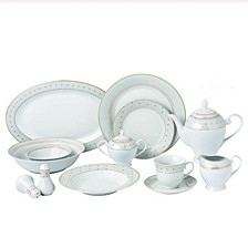 Carlotta-Mix and Match Gold Trim 57-PC Dinnerware Set, Service for 8