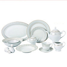 Lorren Home Trends Carlotta-Mix and Match 57-PC Dinnerware Set, Service for 8