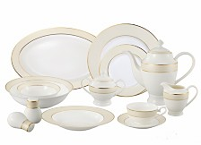 Lorren Home Trends Valentina 57-PC Dinnerware Set, Service for 8