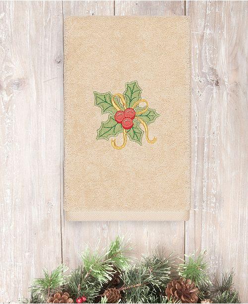 Linum Home Christmas Holly Bunch 100% Turkish Cotton Hand Towel