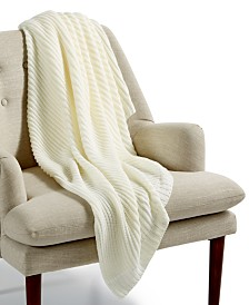 "Lacourte Arnold Ivory 50"" x 60"" Throw"