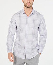 Tasso Elba Men's Giloumo Sateen Plaid Shirt, Created for Macy's