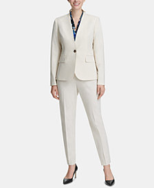 DKNY One-Button Blazer, Ruched Top & Skinny Pants, Created for Macy's