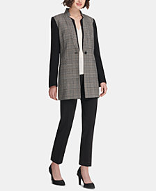 DKNY Topper Jacket, V-Neck Top & Skinny Pants, Created for Macy's