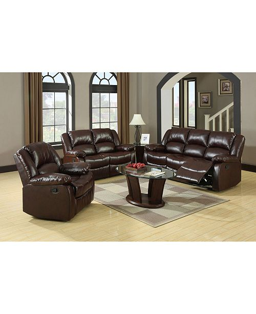 Furniture of America Jailene Traditional Bonded Leather Recliner