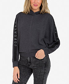 Jordache Logo Dolman-Sleeve Hooded Top