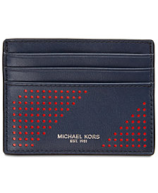 Michael Kors Men's Perforated Leather Card Case