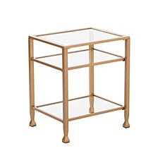 Brookford Gold Metal And Glass End Table