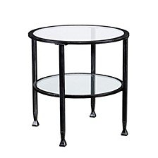 Brookford Metal And Glass Round End Table