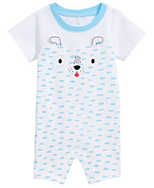 First Impressions Baby Boys Puppy Cotton Romper, Created for Macy's