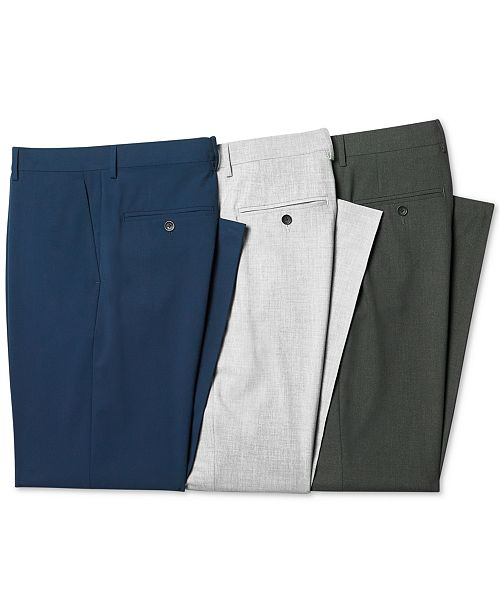 00d9c0ebb ... Perry Ellis Portfolio Modern-Fit Performance Stretch Dress Pants ...