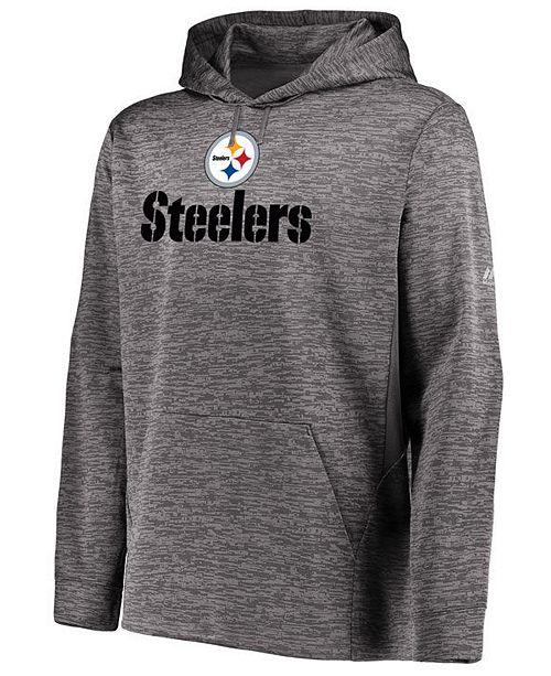 quality design cacfb c12b7 Majestic Men's Pittsburgh Steelers Ultra Streak Fleece Hood ...