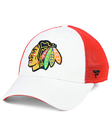 Authentic NHL Headwear Chicago Blackhawks Tech Mesh Flex Stretch Fitted Cap