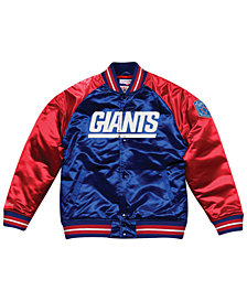 Mitchell & Ness Men's New York Giants Tough Season Satin Jacket